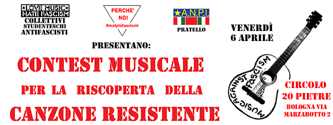 Love Music & Fight Fascism: Contest per la riscoperta della canzone resistente